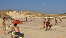 Beach tennis στην παραλία του SImos Camping