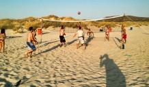 Στο οργανωμένο τμήμα της παραλίας του Simos Camping υπάρχουν διαμορφωμένοι χώροι για Beach Volley, Beach Tennis και Beach Soccer