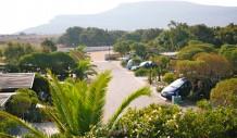 Πανοραμική άποψη τμήματος διαμορφωμένου για σκηνές με parking