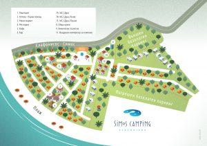 Карта на къмпинг Симос