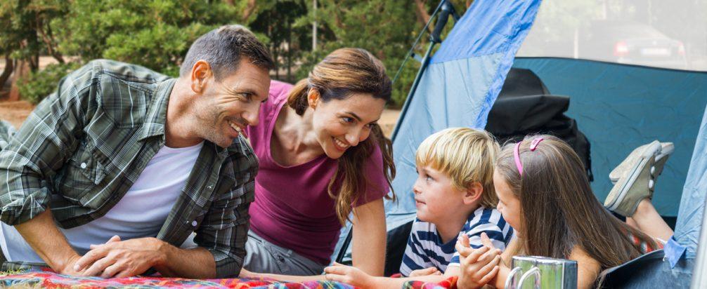 Simos camping family